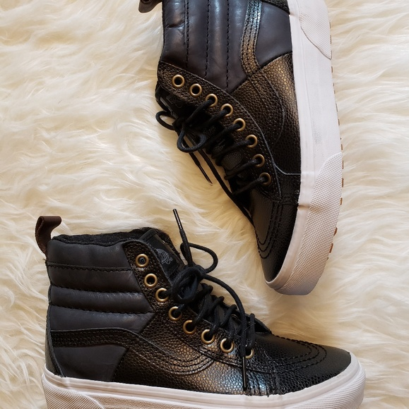 3aedf85243 Vans Sk8-Hi MTE Black Pebble Leather W 5.5 M4. M 5af0e6593afbbd8f2fe0d9d7